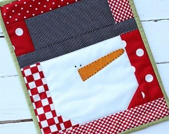 Snowman Mini Quilt  - Download Pattern