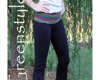 Greenstyle Women's Yoga PDF Pattern in Teen and Women's Sizes - Instant Download