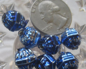 7 Glass Garland Beads Christmas Garland Blue Beads Style 034 RB
