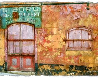 Old Storefront in Malta (11x17 - Mediterranean - vintage - Europe - Doors - Art Decor - Antique)