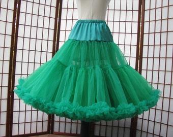 Petticoat Emerald Green Organdy Size Small Custom