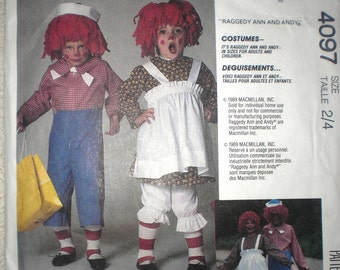 McCalls 4097 Rageddy Ann and Andy Costume Sewing Pattern