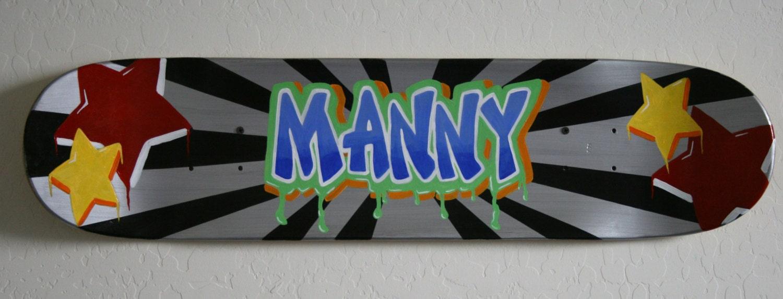 Skateboard Deck Wall Art Handpainted Skateboard