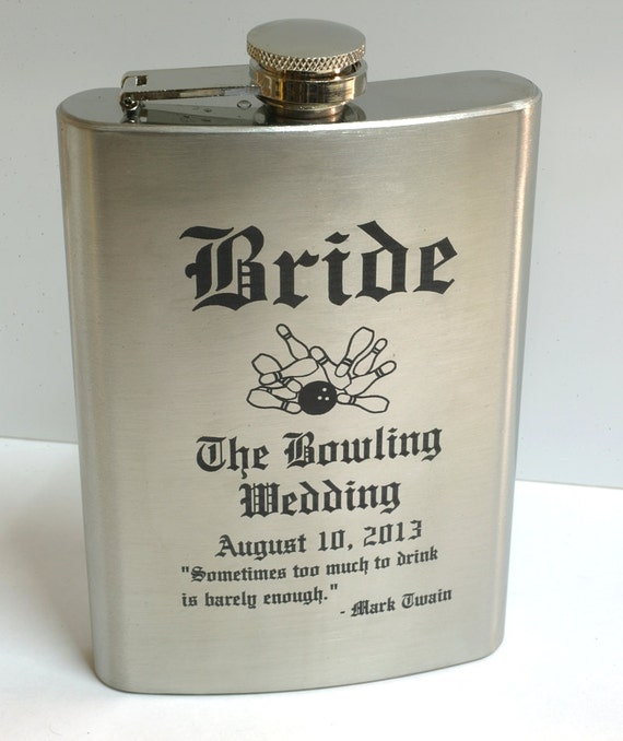 Engraved Flask, Stainless Steel Flask, Best Man Gift, Groomsman Gift, Father of the Bride, Usher Gift, FSK-1