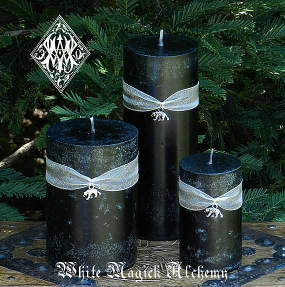 Moon Bear . 2x3 Pillar Candle . Join us in Saving the Moon Bears and Protect all Bears from a life of Suffering and Pain