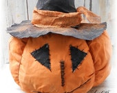 Big Jack the Primitive Witch  Pumpkin Large Halloween Fall Autumn Collectible Sitter HHCOFG