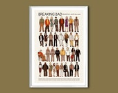 Breaking Bad (the cast) TV show 12x18 inches print