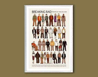 Breaking Bad (the cast) TV show print in various sizes