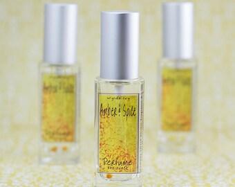 Amber & Spice Perfume   Notes of Amber, Vanilla, Sandalwood, Clove, Cinnamon, and Honey