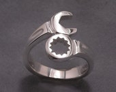 Wrench ring - sterling silver