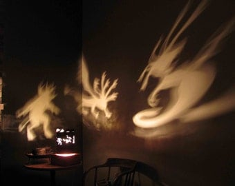 Spinning Halloween Lamp Shade - Greek Mythology Creatures