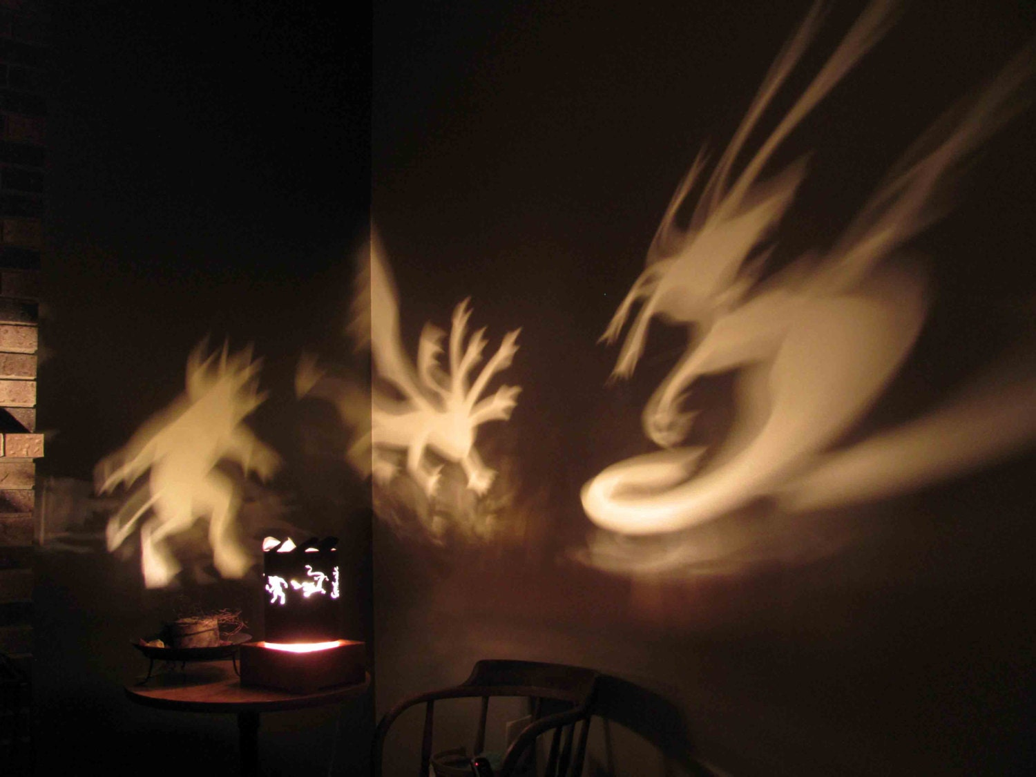 Shadow Lamps Spinning Halloween Lamp Shade Greek Mythology Creatures