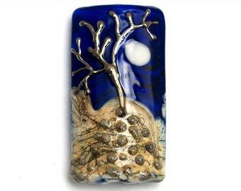 Tree of Life Kalera Focal Bead 11833403 - Handmade Glass Lampwork Bead