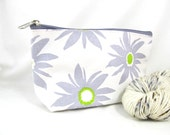 Zipper Bag, Small - Lavender Daisy