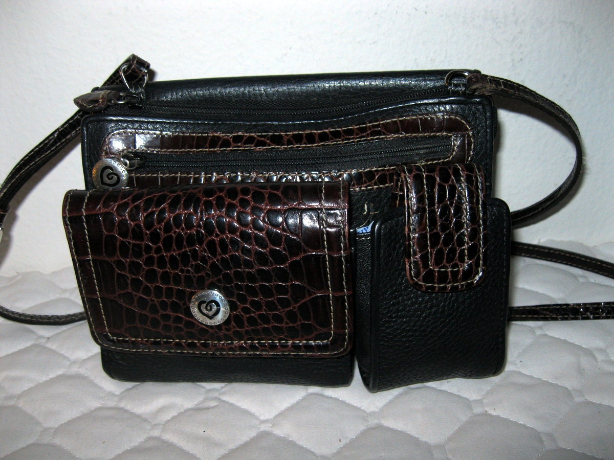 Brighton small cross body bag organizer purse black brown - Organizer purses and handbags ...
