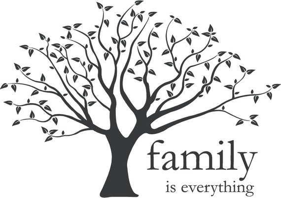 family is everything vinyl lettering wall art in words. Black Bedroom Furniture Sets. Home Design Ideas
