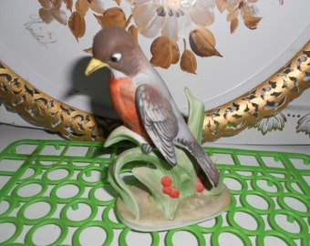 Vintage Lefton China Robin Bird Figurine Made in Japan Excellent Condition