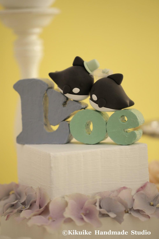 Orca Whale Wedding Cake Topperk640