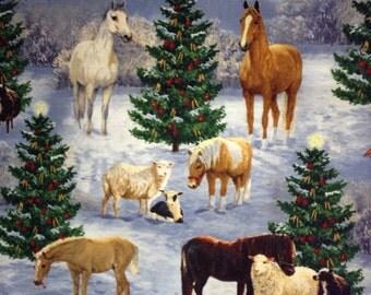 Christmas on the Farm Fabric BTY