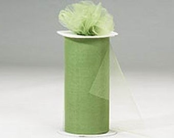 54 x 50 yd  Bolt of Top Quality Made In The USA Tulle Bolt -- OLIVE