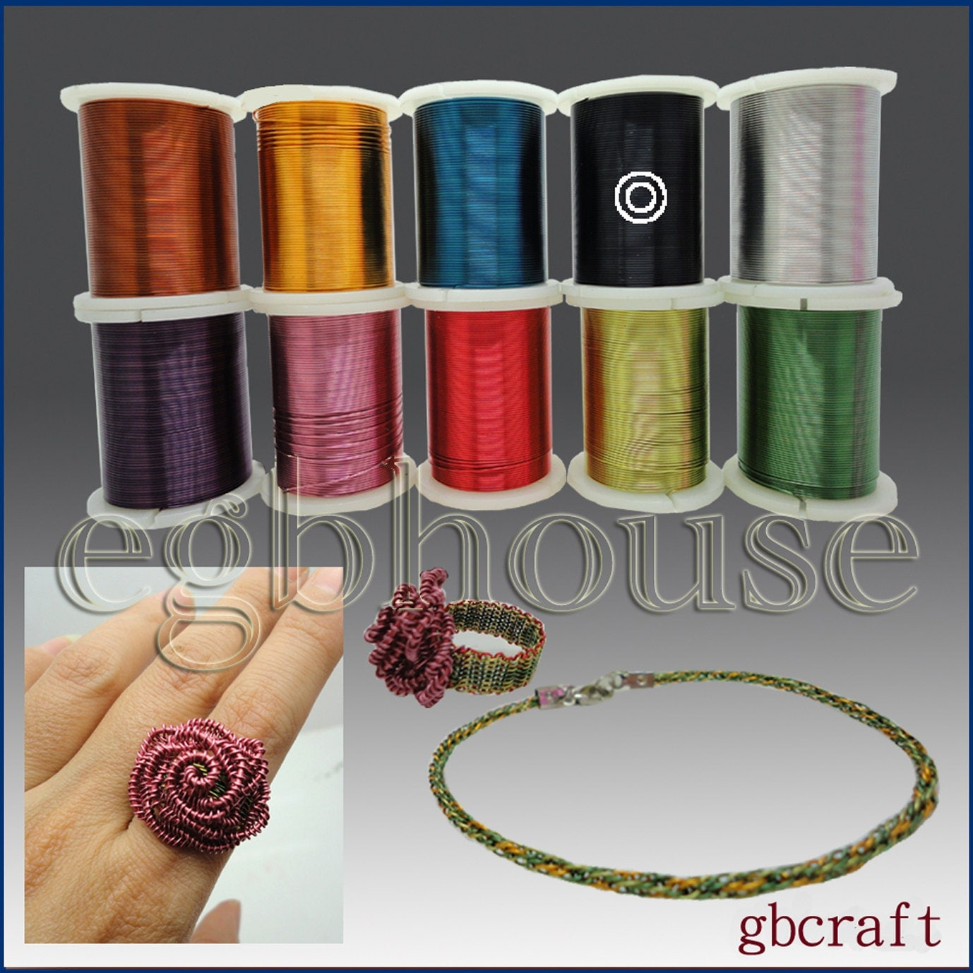 Colored craft wire 26 gauge 18meters 10 colors available for 10 gauge craft wire