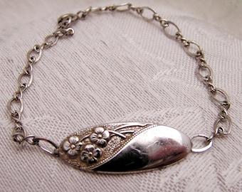 Vintage Anson Sterling Engravable Floral Bracelet. B4