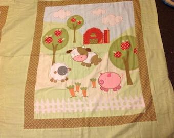 Barnyard animal quilt