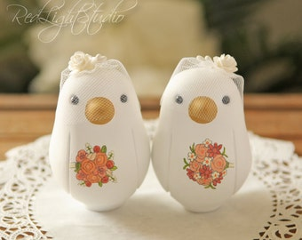 Gay Wedding Cake Topper - Love Bird Cake Topper - Medium