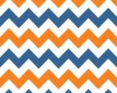 Blue / White / Orange  Medium Chevron C320-05 from Riley Blake Fabrics 1/2 yard