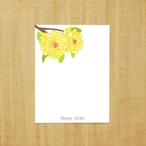 8 PERSONALIZED Flower Bushel Note Cards