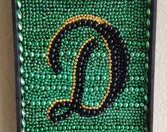 Mardi Gras Bead Art: Custom Monogram