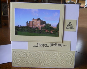Celtic scottish picture  birthday card