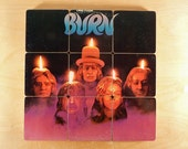 DEEP PURPLE recycled Burn album coveer coasters and warped record bowl