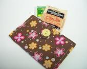 brown cotton tea wallet,cotton fabric Tea wallet,eco friendly,tea wallet,tea bag holder,tea bag caddy,under 10 dollars,travel teabag