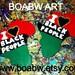 I love Blackpeople Africa Earrings rbg