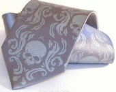 Mens skull tie, Damask ties custom printed in colors of your choice
