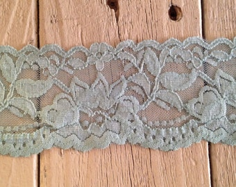 STRETCH Lace VINTAGE BLUE no. 399-2 inch -2 yards for 2.99