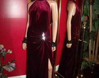 Vintage Dress Flapper Velvet  Evening Tea Party  does 20-30s  Theme Size L