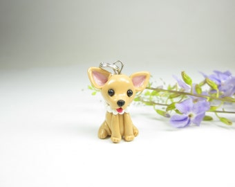 Chihuahua Charm or Pendant - chihuahua jewelry , dog jewelry , key chain