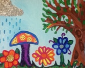 Tree and mushroom