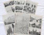 """vintage ephemera- HOLLAND & BELGIUM --antique prints from """"Book of Knowledge"""" 1912 (6 pages)"""
