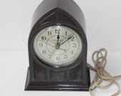 Vintage Mantle Hammond Alarm Clock Chicago IL Antique Electric Clock Mantle Clock