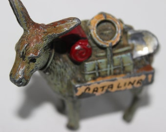 Vintage Catalina Donkey Pack Mule 3 Legged Metal Made in Japan Lead Miniature