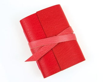 Colour Clash Mini Journal: Fashion Trend Red / Pink Valentine notebook, wedding favour, party bag gift, bright scarlet pastel