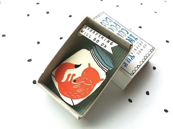 The Instant Comfort Pocket Box - sleeping fox