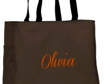 Classic Personalized Tote Bag Monogram