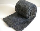 Knitted Scarf / Grey Blue Olive Scarf / Hand Knit Scarf / Adult Knitted Scarf / Soft Warm Scarf