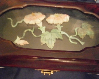 MUSICAL JEWELRY Box  With MOP Design On Top
