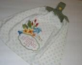 Happy Spring Crochet Kitchen or Bathroom Towel