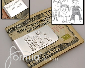 Your kids art on a silver money clip